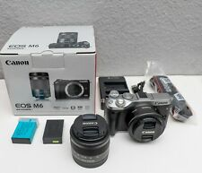Canon EOS M6 Camera with 15-45mm Lens and 22mm Lens