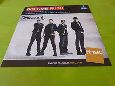 BIG TIME RUSH !!!!!!!!!!! !PLV 30X30 CM !!FRENCH RECORD STORE PROMO ADVERT