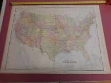 100% ORIGINAL  LARGE UNITED STATES  MAP BY BLACK C1880/S VGC LOW POSTAGE