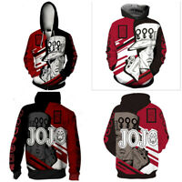 JoJo's Bizarre Adventure Hoodies 3D Print Sweatshirts Hooded Zipper Jacket Coat