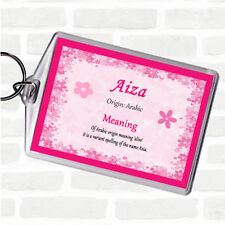 Aiza Name Meaning Bag Tag Keychain Keyring  Pink