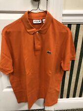 USED Orange Lacoste Polo Men's Sz 5 (L)