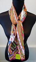 Etro NWT Silk and Wool Classic Vibrant Colorful Print Scarf Wrap Retail $345
