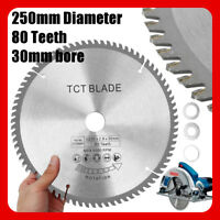 250mm x 80T Silver High-speed TCT Circular Saw Blade 30mm Bore For 255mm Saws !
