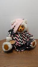 Vtg 1986 Robert Raikes Ltd Edition Numbered & Signed Maude Wooden Bear #5464