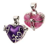 2pcs Love Heart Urn Cremation Keepsake Pendant Memorial Jewelry Casket