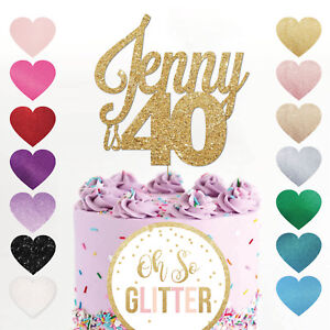 CUSTOM 40 Cake Topper, Personalised,16,18,21,30,40,50,60, 40th Birthday cake