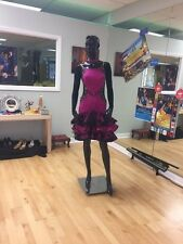 Professional Designer Ballroom/Latin Purple and Black Dance Dress (SMALL)