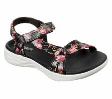 Skechers Womens Floral Sandals On The Go 600 Fleur Strap Flower Summer Shoes