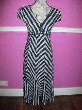 BNWT NEW M & S PER UNA NAVY BLUE GREY STRIPED FIT FLARE dress 8 M look