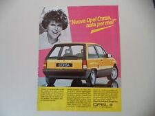 advertising Pubblicità 1985 OPEL CORSA 1.3 GT