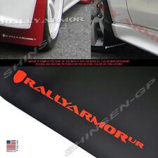 Rally Armor UR Black Mud Flaps w/ Red Logo for 2007-2017 Lancer DE ES Sedan