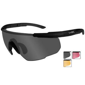Wiley X Saber Advanced Glasses 3 Spare Ballistic Lenses Combat Matte Black Frame