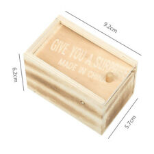 Spider Scare Box Wooden Prank Hidden In Case Trick Play Joke Gag Toys RANDOM N2X