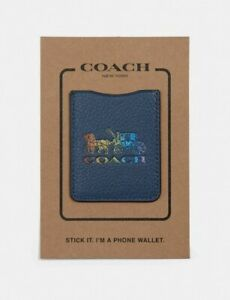 NWT- Coach F78199 Phone Pocket Sticker With Rainbow Horse And Carriage