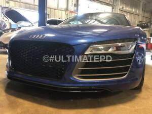 Gloss Black RS Front Grill  AUDI R8 2013-2015 USA SELLER