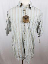 Arrow Blue Jeans Vintage Long Sleeve Button Down Shirt Striped Men's Size Lg New