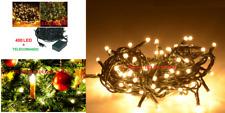 LED 400 LUCI  Natalizi.Luce Albero Natale,presepe,luci ORO NATALE ALBERO ADDOBBI