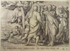 HANS COLLAERT VOS DE JODE KUPFERSTICH 1585 ZACHÄUS JESUS JERICHO ZACCHAEUS G49