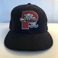 New Era Portland Sea Dogs Hat Minor League Baseball Wool Sz 6 7/8 Cap Fitted