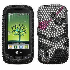 LGVN270HPCDM012NP Dazzling Diamond Diamante Case for LG Cosmos Touch VN270 Skull