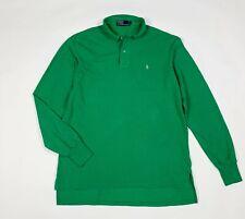 Ralph lauren polo maglia uomo usato L manica lunga t shirt vintage verde T6078