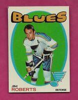 1971-72 TOPPS # 116 BLUES JIM ROBERTS NRMT-MT  CARD (INV# A5471)