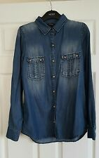 CLUB MONACO Ladies designer Size 10 Blue Denim Shirt