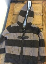 Garçons épais polaire manteau marron 2-3 ans Marks and Spencer Homme Duffle Très bon état garçons