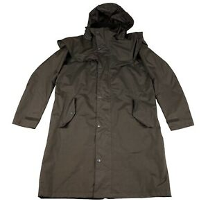 Cotton Traders Rain Mac Khaki Adult Small Waterproof Tartan Lined Coat