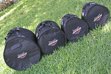 """AHEAD ARMOR DRUM BAGS / CASES for YOUR 18"""" BASS 12"""" TOM 14"""" FLOOR + 14"""" SNARE!"""