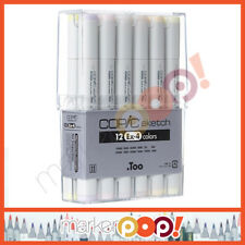 Copic Sketch Marker Set 12 Ex-4 Color (12Ex-4) COPIC U.S. AUTHORIZED RETAILER