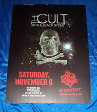 The Cult November 10 2010 House of Blues Showboat Atlantic City Sign Poster