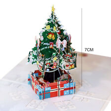 1pc Pop Up Christmas Card 3D Greeting Cards Christmas Tree Card Greeting Card