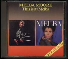 MELBA MOORE This Is It & Melba 2 ON 1 1992 CD Sequel Records