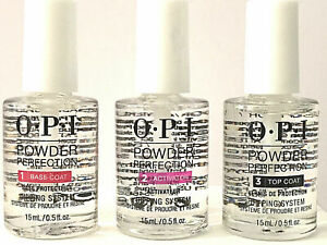 *NEW* OPI Powder Perfection Dipping Liquid System 3 Steps Kit 0.5 oz  AUTHENTIC