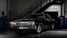 """Chevelle SS Black Chevy 36""""x64"""" VINYL BANNER Muscle Car Man Cave GARAGE SIGN"""