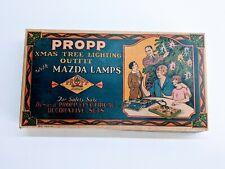 Vintage Propp Christmas Tree Lighting 8 Light Outfit Split Corner - Box Only