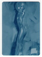 2013 TOPPS MARS ATTACKS INVASION Cyan Printing Plate Card 84 FROM MARS WITH LOVE