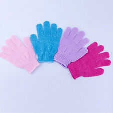 1pair Shower Bath Gloves Exfoliating Wash Skin Spa Massage Loofah Body Scrubber