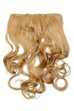 Clip-In Extension capelli ampia resistente al calore 5 clip riccio Biondo scuro