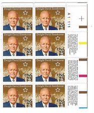 Scott #2513.. 25 Cent.....Eisenhower...Plate Block of 8 With Inscriptions