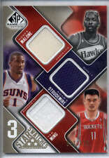 Moses Malone Yao Ming Stoudemire Jersey Patch 2009-10 UD Game Used /125 Mint