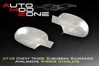 07-14 Chevy Silverado Avalanche Chrome Side View Mirror Covers Full Cover Set