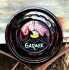 Vintage Chevy Garage Hot Rat Rod Painted Hubcap Shop Car Sign Pinstriped Art