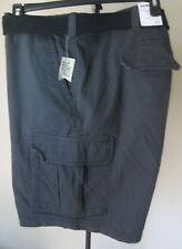 NWT Men's SONOMA Cargo Shorts 50W Gray Big & Tall Longer Relaxed Fit Belted New