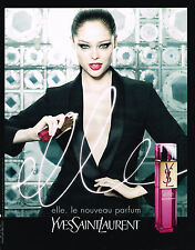 PUBLICITE ADVERTISING 045  2008  YVES SAINT LAURENT  parfum femme ELLE    130415