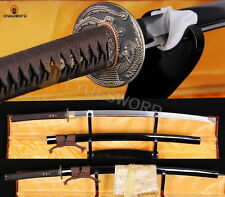 Japanese Samurai Sword KATANA 1060 Carbon Steel Blade Sharp Edge Can Cut Bamboo