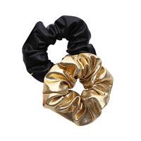 1x Women Leather Elastic Hair Ties Girl Hairband Rope Ponytail Holder Scrunchie-