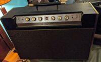 Haynes Jazz King Bass II 2x12 Guitar Amplifier Cabinet 4 Input vtg 1960s LARGE